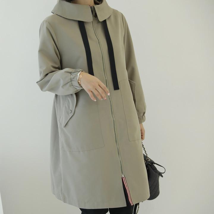lemite-세련된  배색야상자켓♡韓國女裝外套
