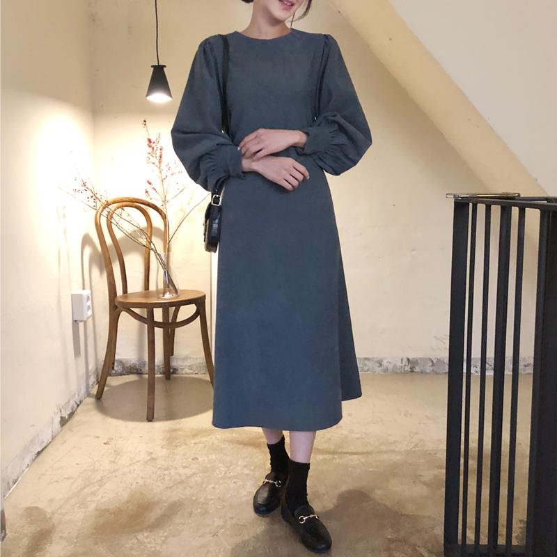 uptownholic-[골덴 베이 ops (*2color)]♡韓國女裝連身裙