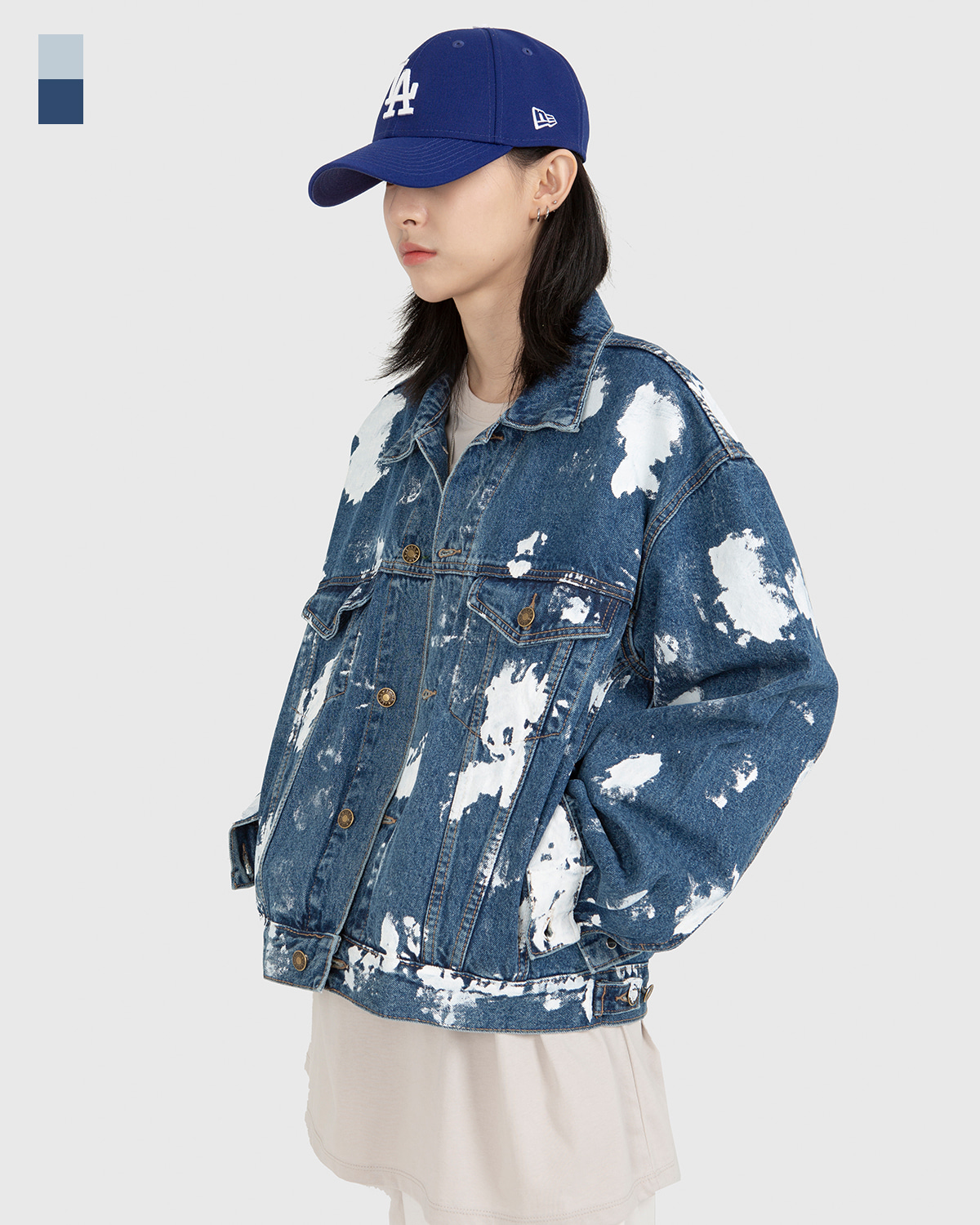 raucohouse-TOUCH PAINTED DENIM JACKET - RAUCO HOUSE♡韓國男裝外套