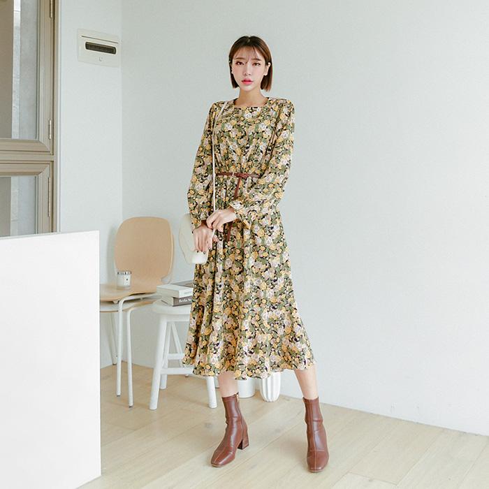 09women-[디어스 플라워 밴딩 롱 원피스 47586]♡韓國女裝連身裙