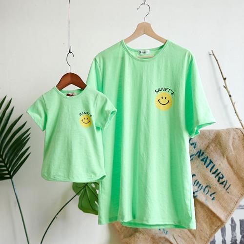 cooingkids-G웃자형광티셔츠♡패밀리룩 여름 북유럽아동복 아기 유아 아동 남아 여아 티셔츠 상의]♡韓國親子裝