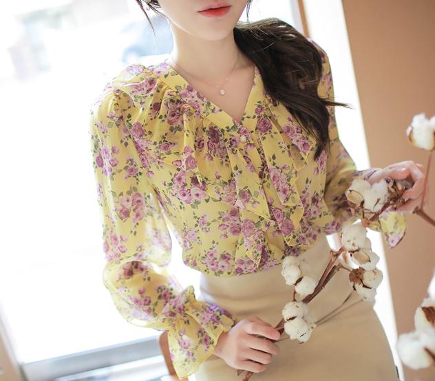 myfiona-화사러플*blouse/m9679♡韓國女裝上衣