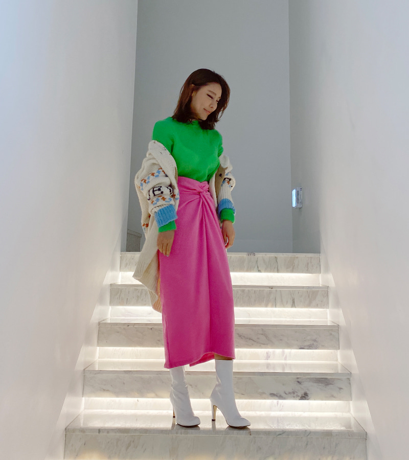 walkingcoco-knot point skirt♡韓國女裝裙