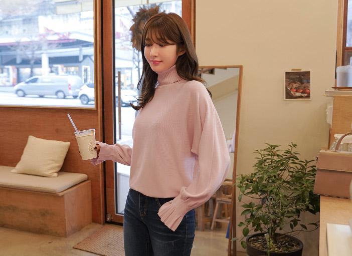 clicknfunny-[첼타르 폴라니트]♡韓國女裝上衣