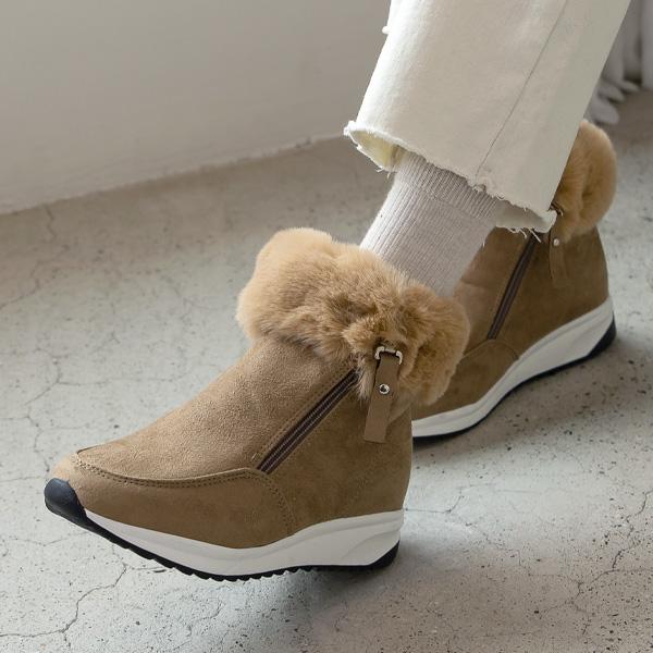 misscandy-[no.18314 사선지퍼 퍼장식 스웨이드부츠]♡韓國女裝鞋