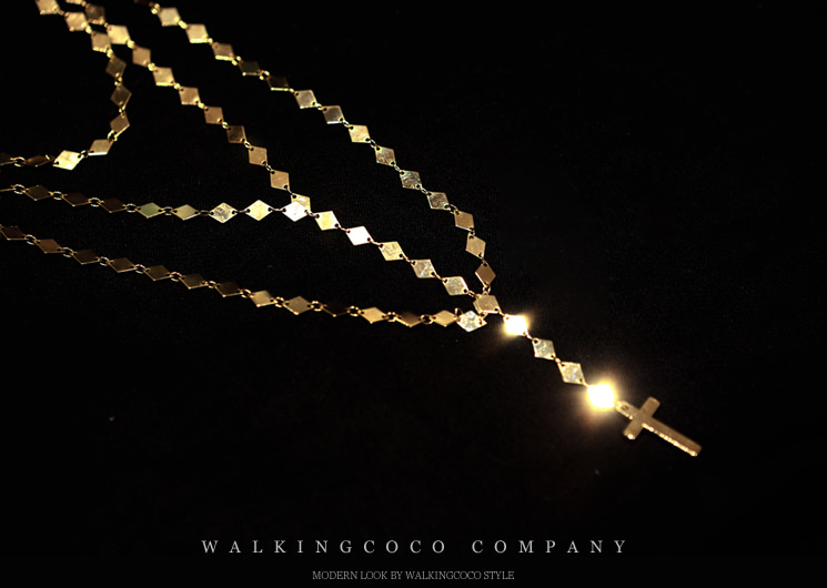 walkingcoco-secret layered necklace♡韓國女裝飾品