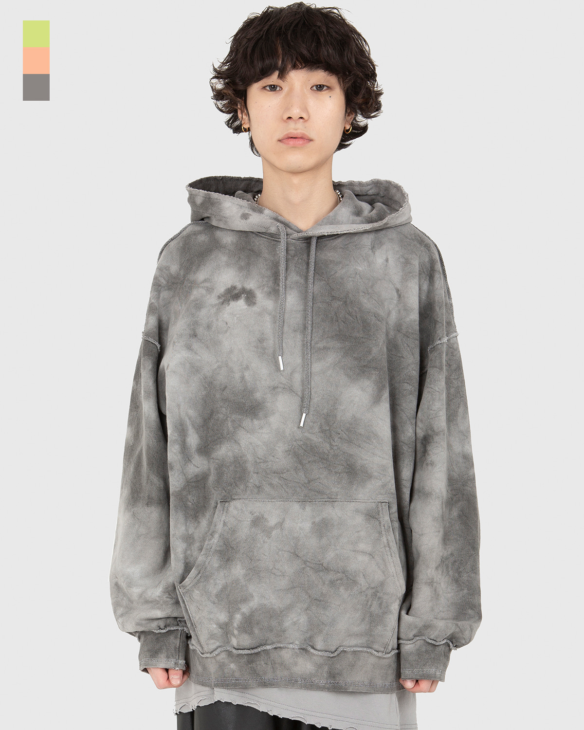 raucohouse-TIE DYE WASHED OVER FIT HOODIE - RAUCO HOUSE♡韓國男裝上衣