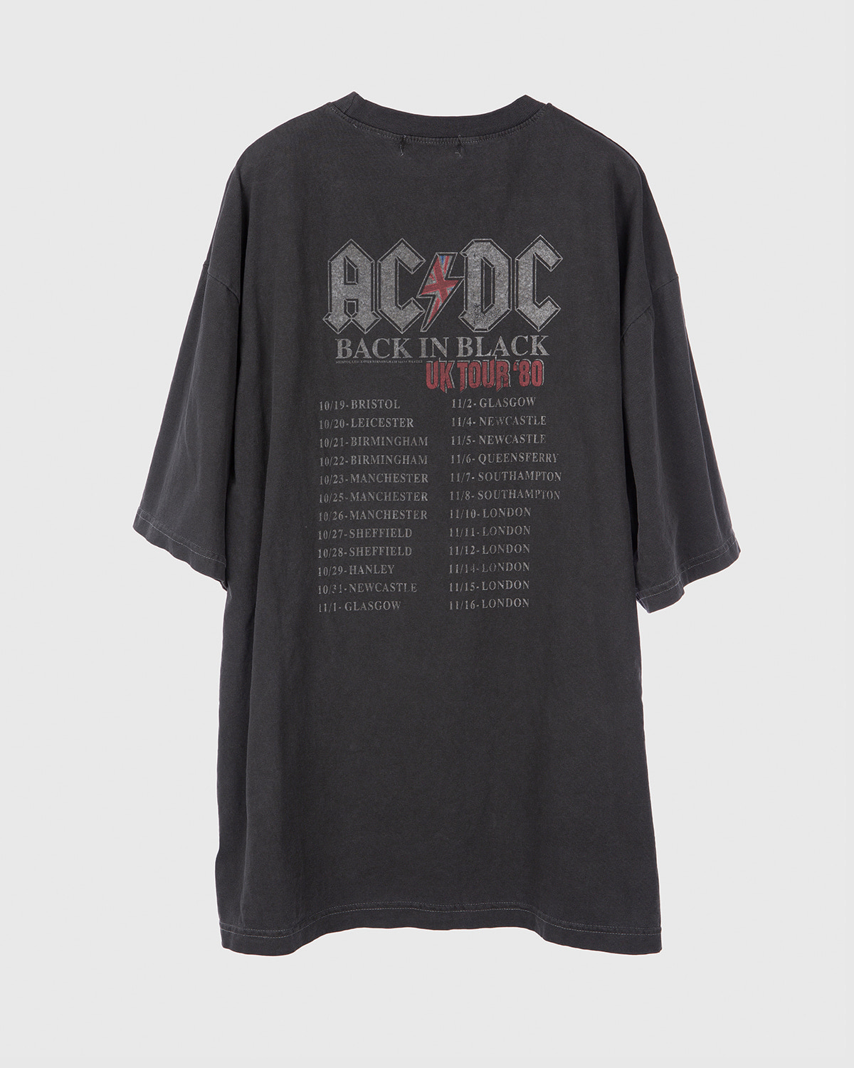 raucohouse-ACDC TOUR 80's DYEING 1/2 T - RAUCO HOUSE♡韓國男裝上衣