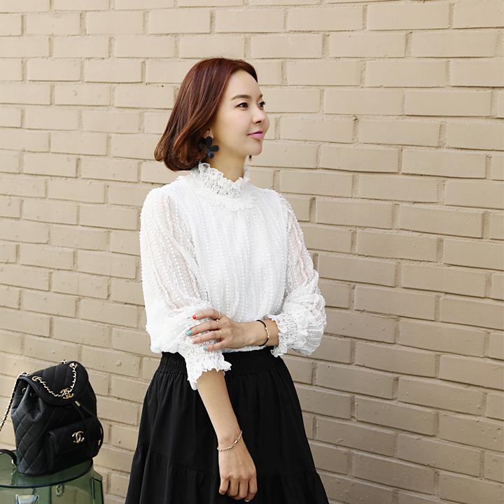 lemite-이쁨가득 스모크블라우스♡韓國女裝上衣