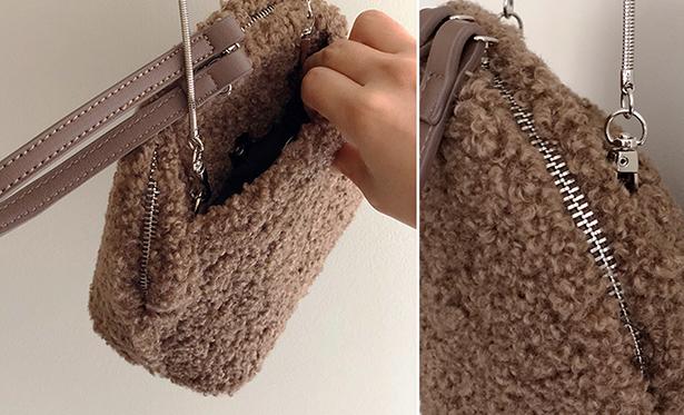 leelin-[웰치 뽀글이 가방]♡韓國女裝袋