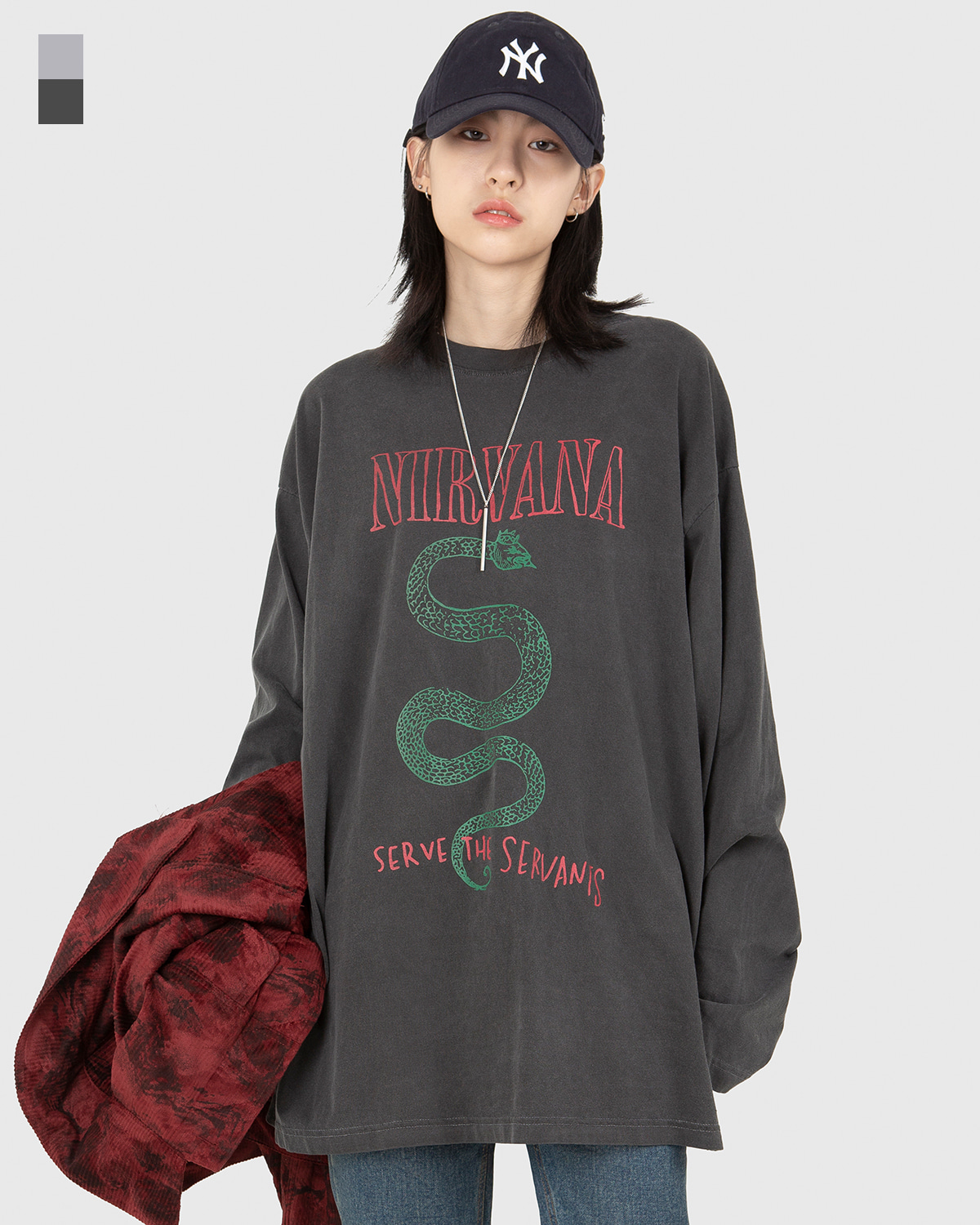 raucohouse-NIRVANA SERVANTS DYEING LONG SLEEVE T - RAUCO HOUSE♡韓國男裝上衣
