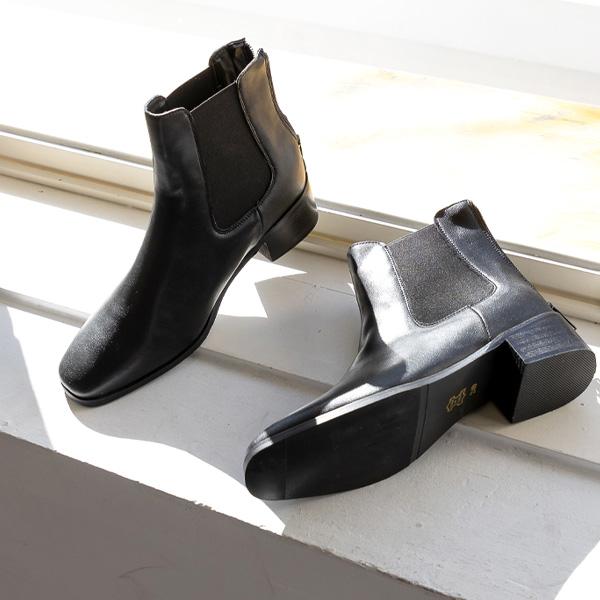 misscandy-[no.18311 사이드밴딩 백지퍼 첼시부츠]♡韓國女裝鞋