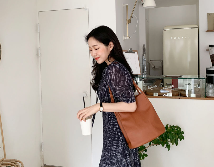 frombeginning-Pot simple shoulder bag_C (size : one)♡韓國女裝袋