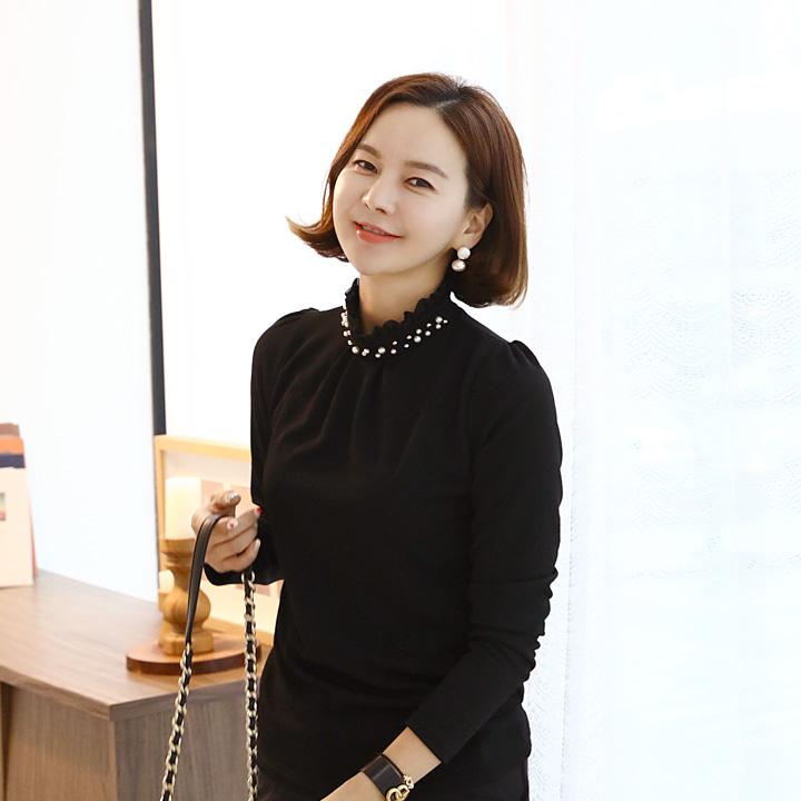 lemite-셀린진주 프릴티♡韓國女裝上衣
