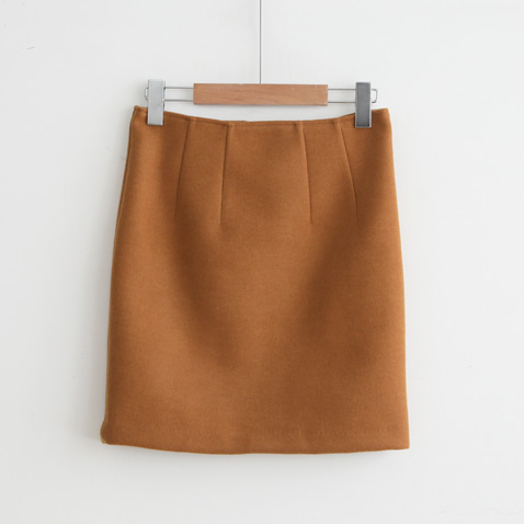 jooen-SK1989/Handmade Wool Pin Tuck Mini Skirt(S,M,L)♡韓國女裝裙