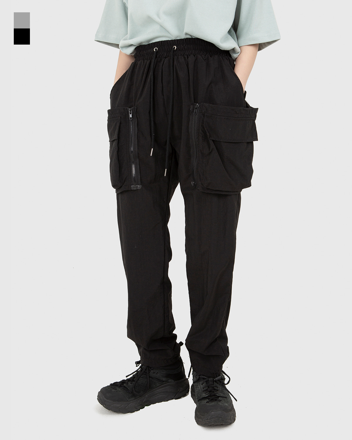 raucohouse-LAYERED DETACHABLE NYLON PANTS - RAUCO HOUSE♡韓國男裝褲子