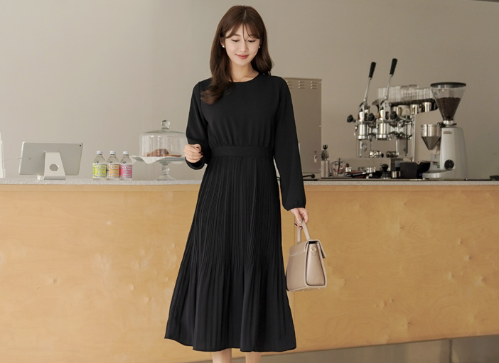 clicknfunny-[샤린 플리츠원피스]♡韓國女裝連身裙
