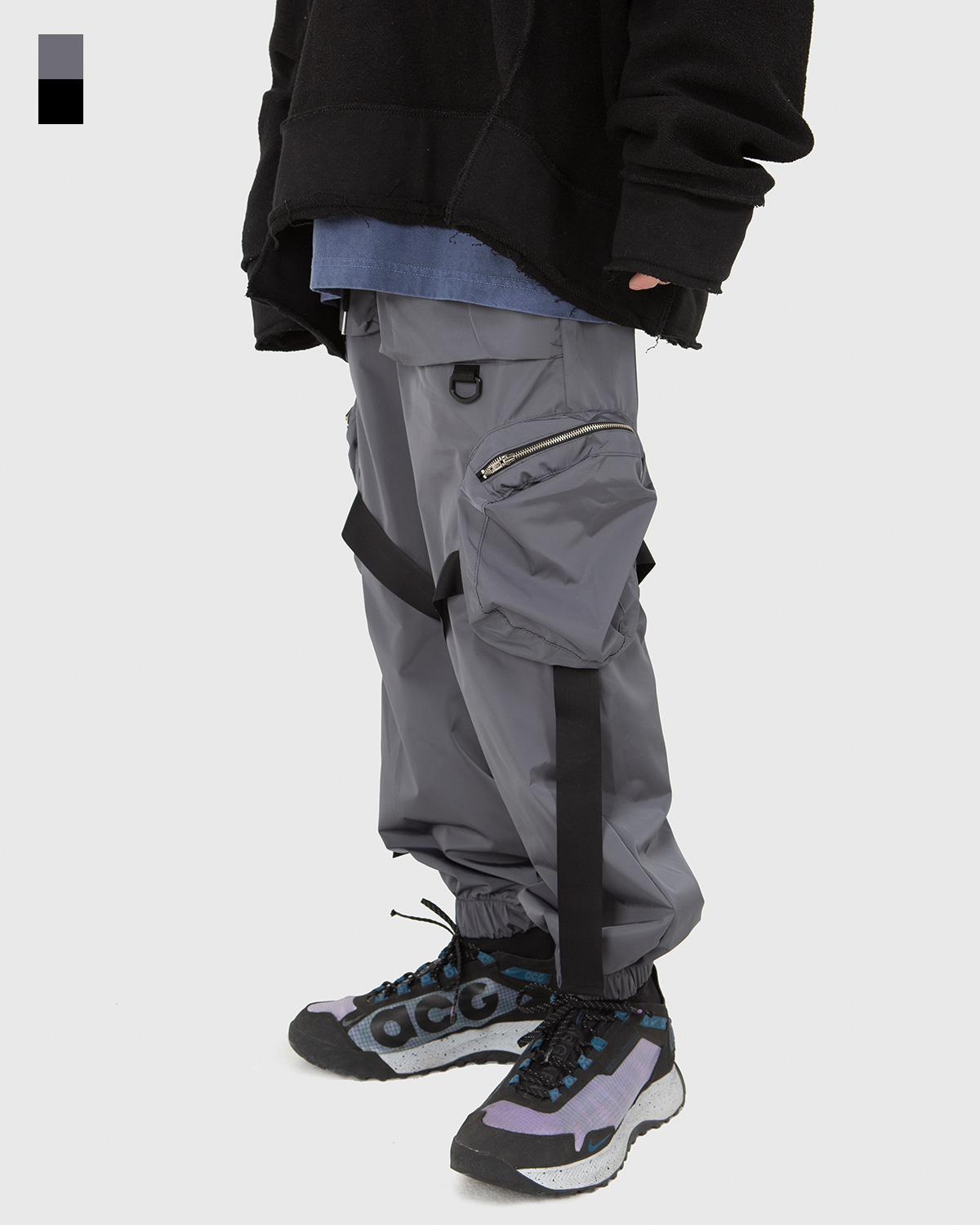 raucohouse-BIG POCKET STRAP JOGGER PANTS - RAUCO HOUSE♡韓國男裝褲子