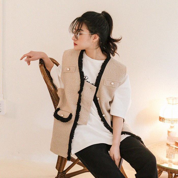 09women-[에스핏 진주 조끼 47553]♡韓國女裝外套
