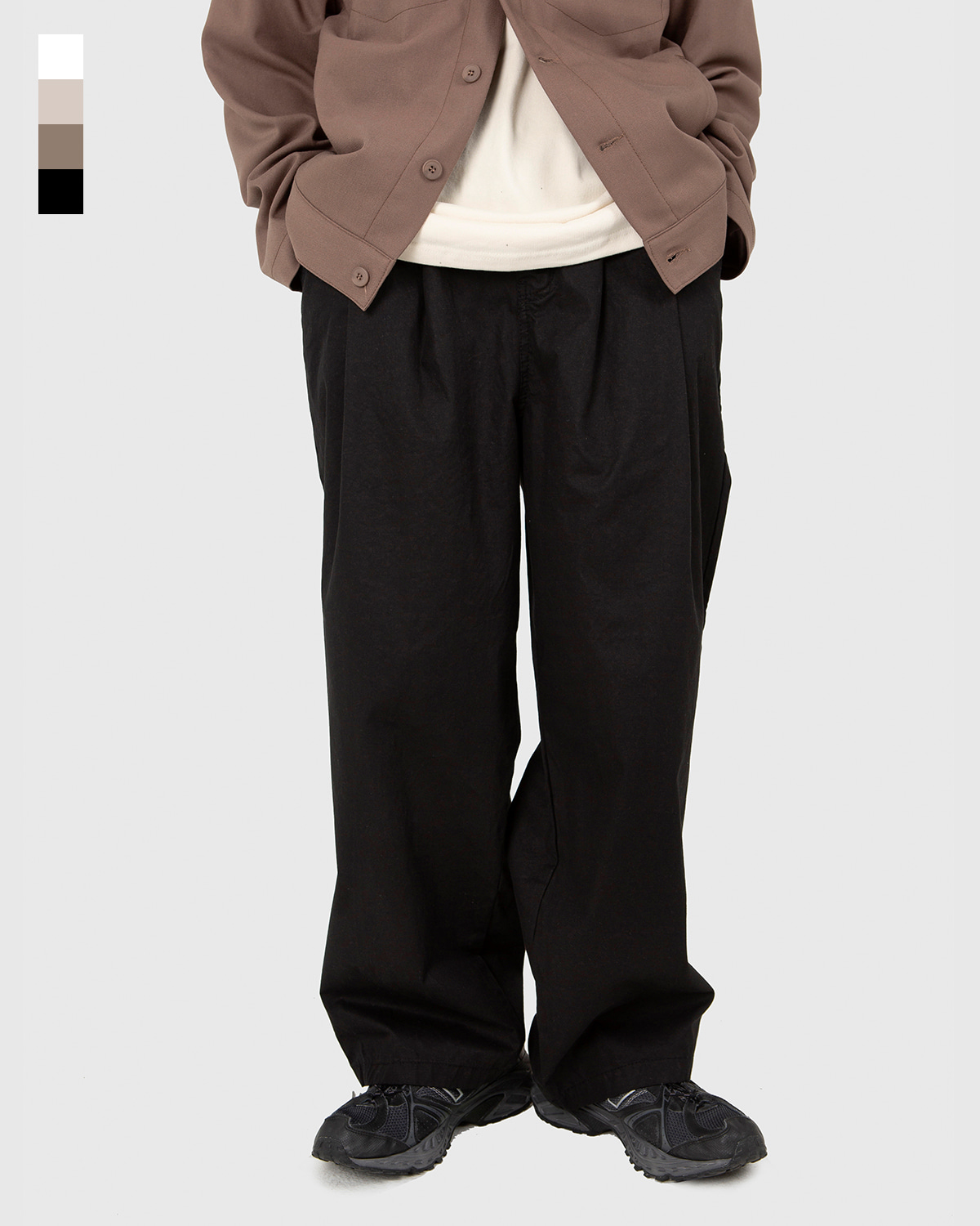 raucohouse-BALLOON FIT WIDE TWO TUCK PANTS - RAUCO HOUSE♡韓國男裝褲子