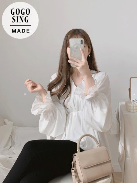 ggsing-[무료배송]여신미가득 프릴BL♡韓國女裝上衣