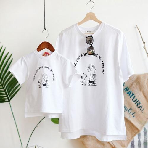 cooingkids-G칭구야티셔츠♡패밀리룩 여름 북유럽아동복 아기 유아 아동 남아 여아 티셔츠 상의]♡韓國親子裝
