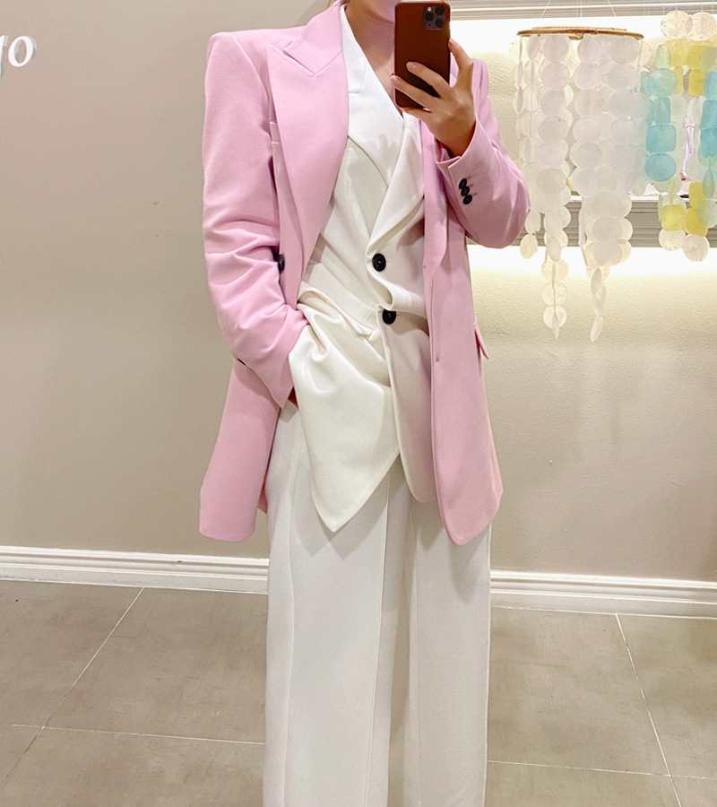 walkingcoco-lily long jacket (pink)♡韓國女裝外套