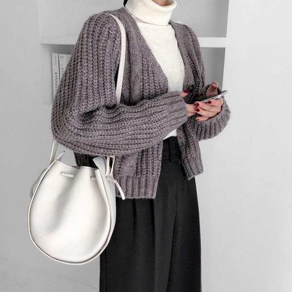 realcoco-[울30%]베어꽈배기울가디건F(44~66)♡韓國女裝外套