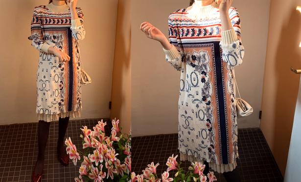 leelin-[믹스더 링클나염 원피스[12월 31일 입고예정!]]♡韓國女裝連身裙