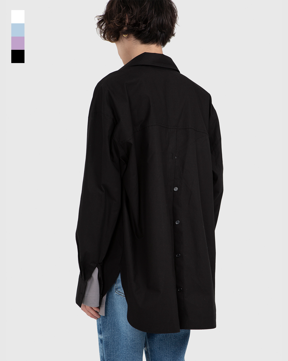raucohouse-BACK SLIT BUTTON SHIRTS - RAUCO HOUSE♡韓國男裝上衣