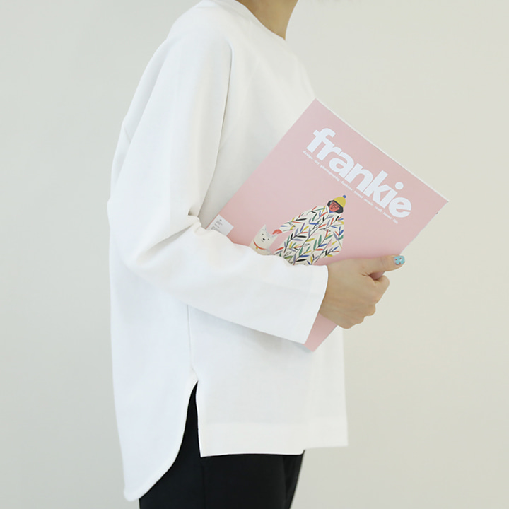 lemite-둥글게 슬릿티♡韓國女裝上衣