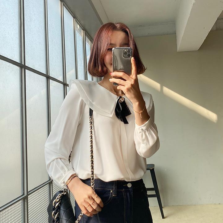 lemite-노블레스 블라우스+브로치세트♡韓國女裝套裝