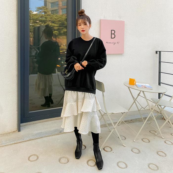 09women-[앤다미 도트 레이어드 원피스 47385]♡韓國女裝連身裙