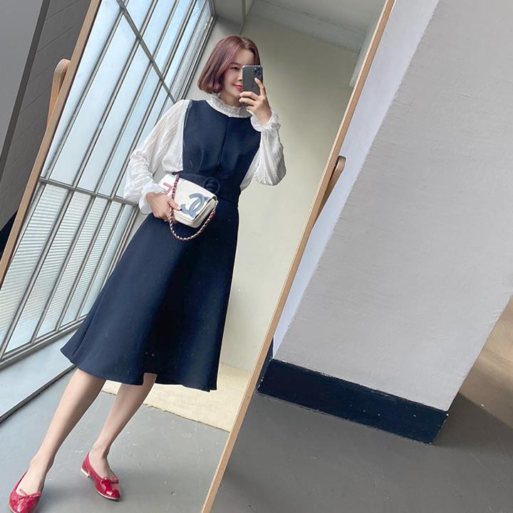 lemite-미뉴엣 슬릿원피스+벨트세트♡韓國女裝套裝