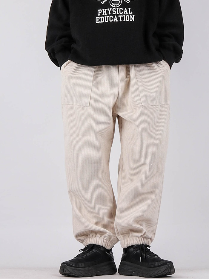 justyoung-HD Corduroy Jogger Pants (4color)♡韓國男裝褲子