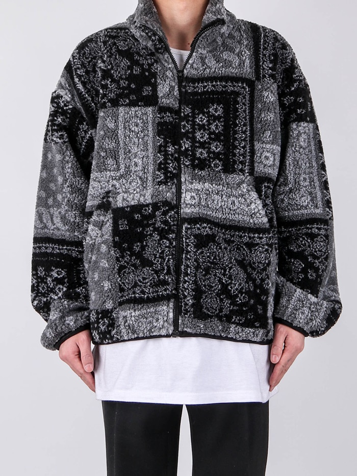 justyoung-GE Paisley Fleece Jumper (2color)♡韓國男裝外套