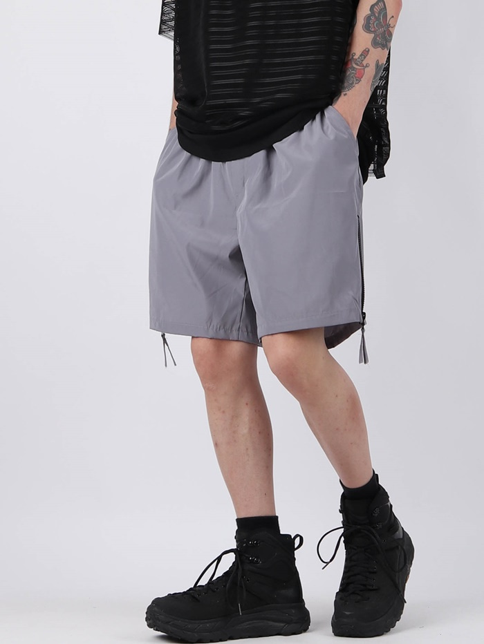 justyoung-GE Side Zip Shorts (2color)♡韓國男裝褲子