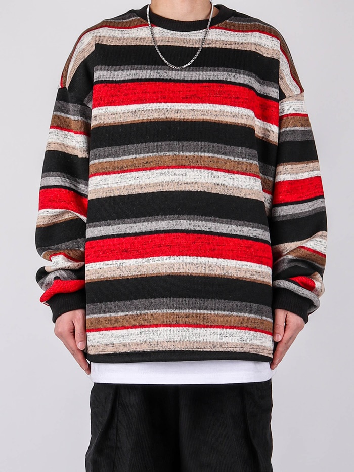 justyoung-NU 78 Striped Knit (2color)♡韓國男裝上衣