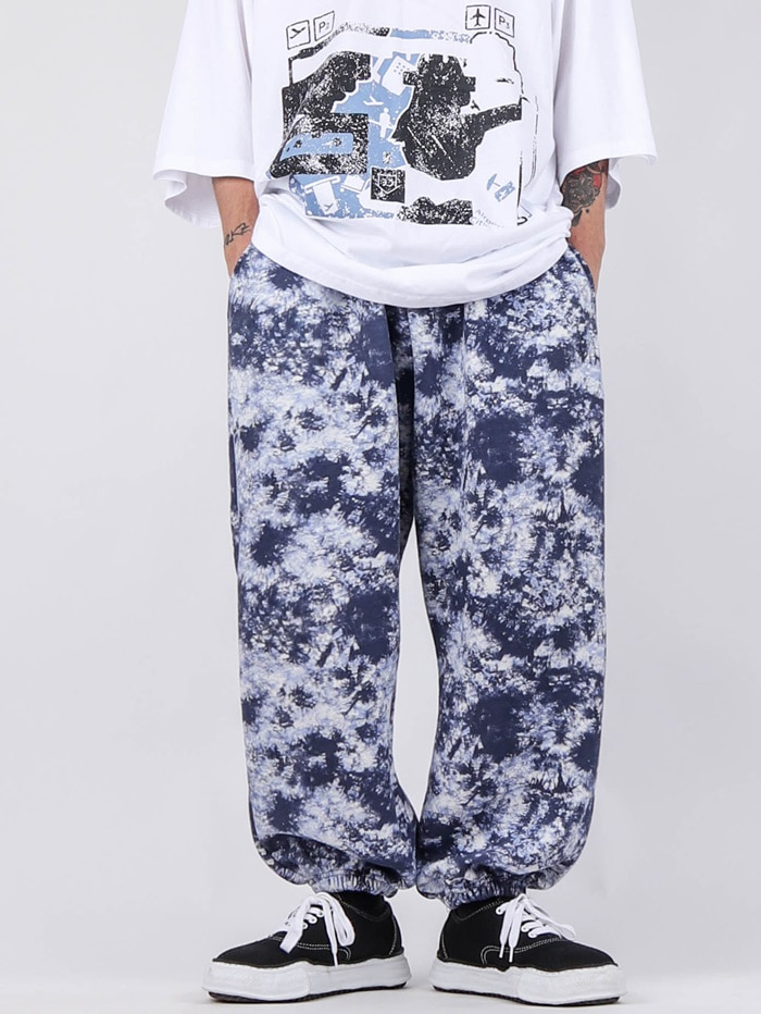 justyoung-RG Water Printing Jogger Pants (2color)♡韓國男裝褲子