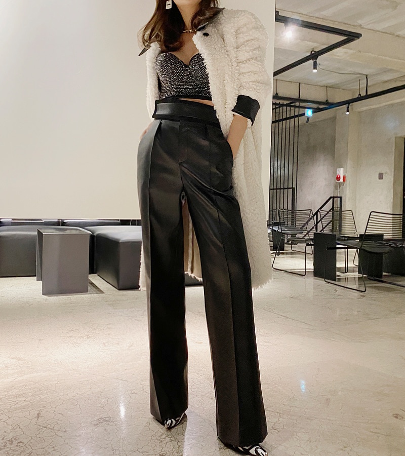 walkingcoco-Leather Suede Pants♡韓國女裝褲