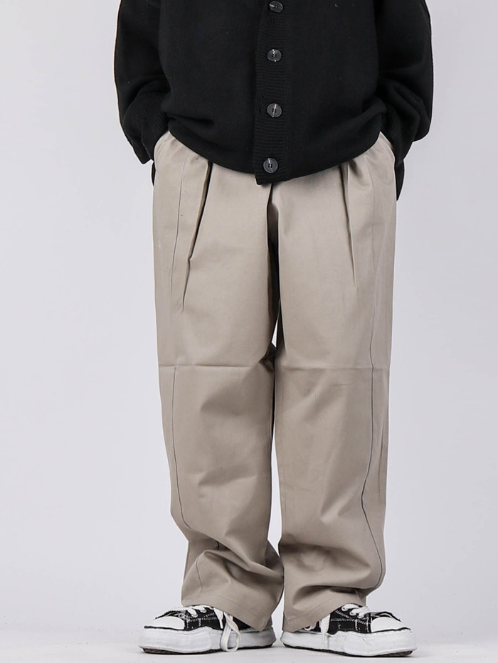 justyoung-NT Obi Tuck Pants (2color)♡韓國男裝褲子