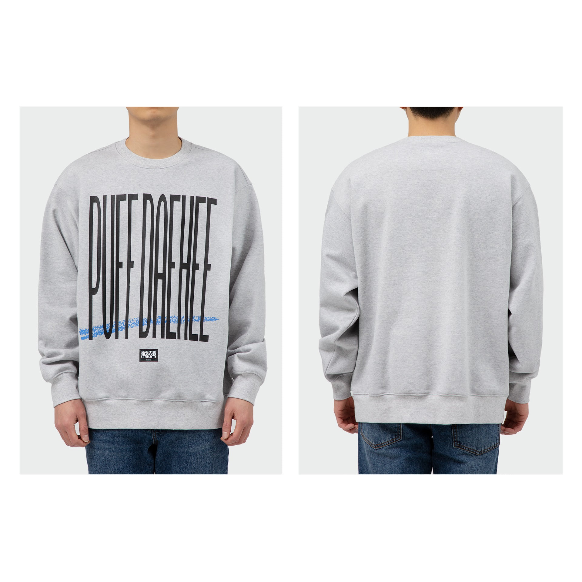 layer-MFG X 8BALLTOWN PUFF DAEHEE SWEATSHIRT heather gray♡韓國男裝上衣