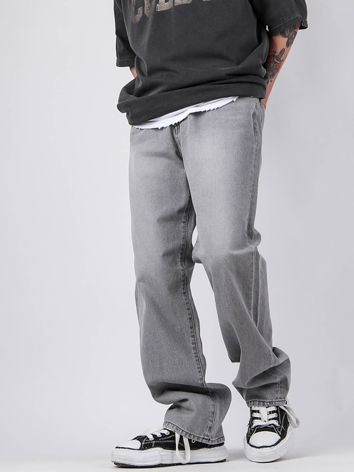 justyoung-KS 02 Stone Gray Jeans♡韓國男裝褲子