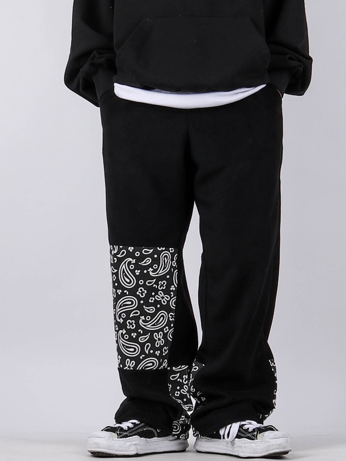 justyoung-SC Paisley Fleece Pants (2color)♡韓國男裝褲子