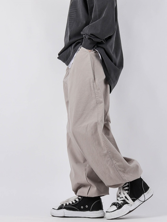 justyoung-PG Wide String Pants (3color)♡韓國男裝褲子