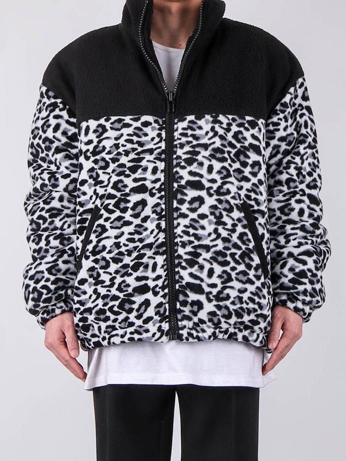 justyoung-GE Leopard Jumper (2color)♡韓國男裝外套
