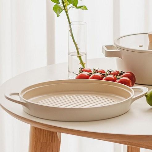 FIKA 26cm 圓形坑紋鑄造燒烤盤 (現貨)