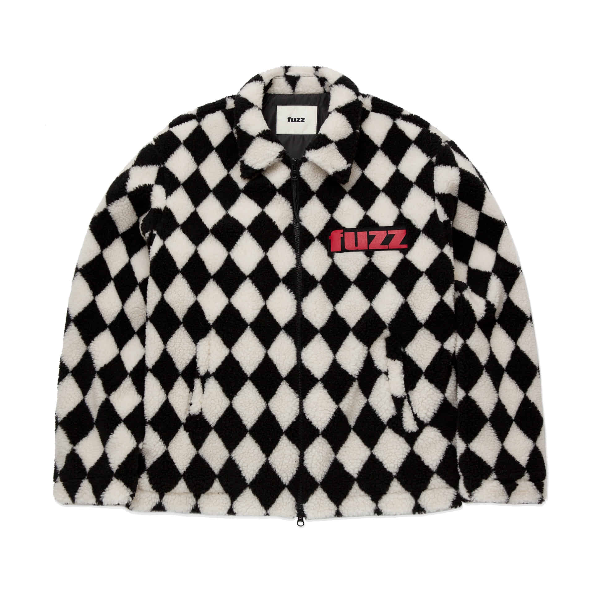 "layer-""777""CHECKERBOARD BOA JACKET♡韓國男裝外套"