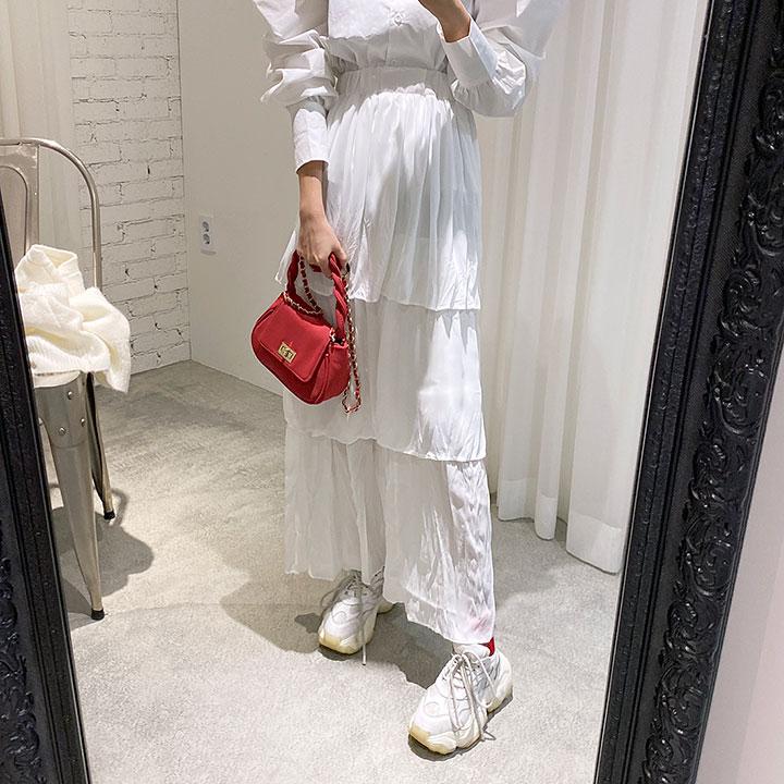 Three-layer Maxi Skirt