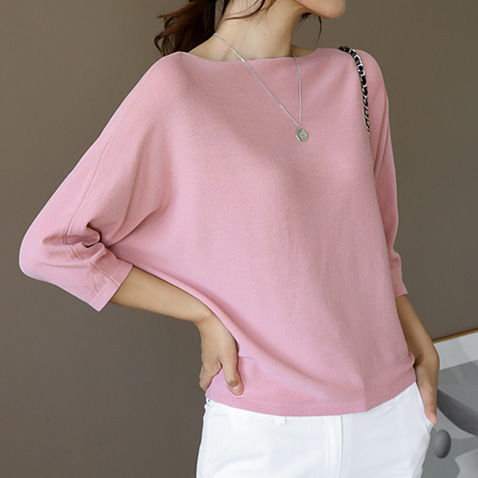 jooen-T4058/Boatneck Comfort Knit Top♡韓國女裝上衣
